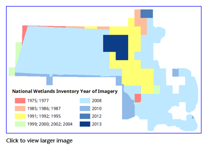National Wetlands Inventory imagery years