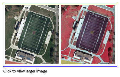 Sample of USGS Color Ortho Imagery (2019) band combinations